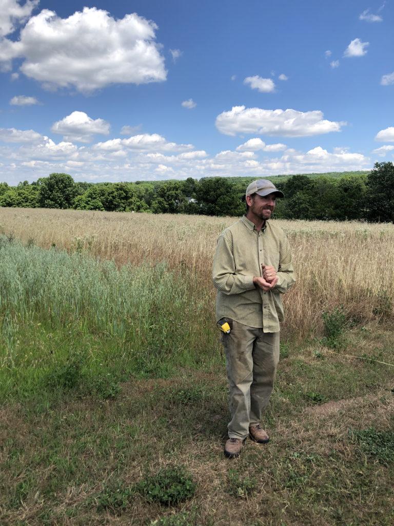 Scott Morgan in his field