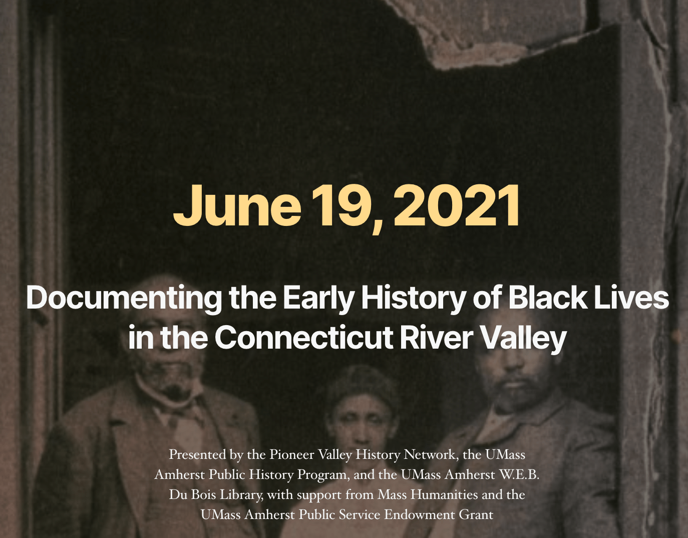 Early History of Black Lives in the Connecticut River Valley