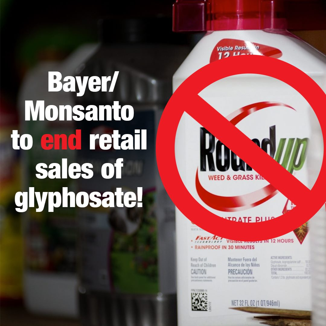 Bayer/Monsanto to end retail sales of glyphosate