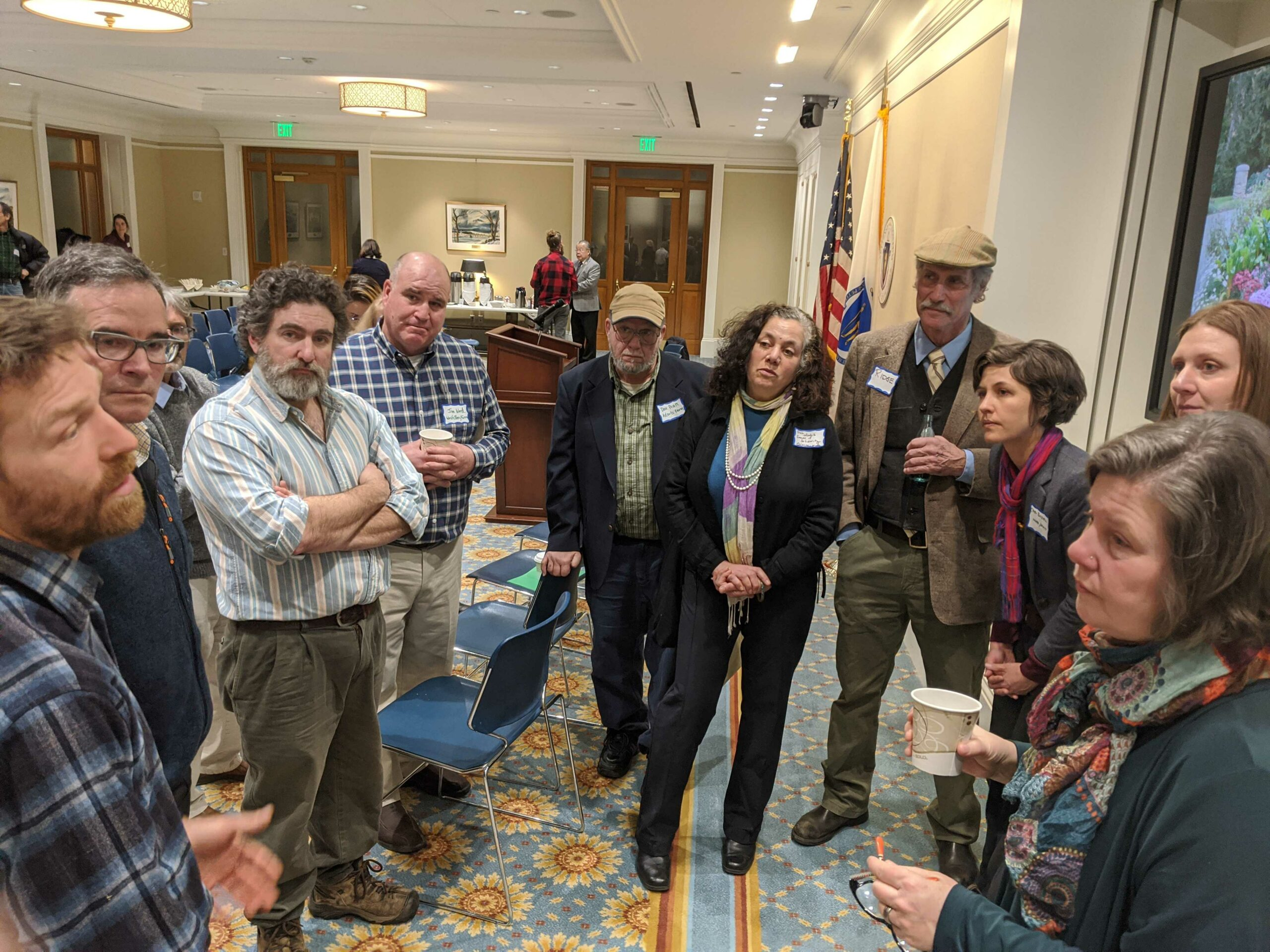 Farmers meet with Sen. Comerford